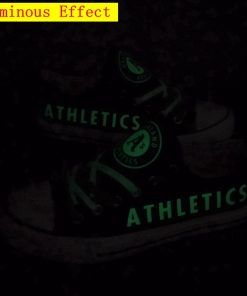 Oakland Athletics Limited Luminous Low Top Canvas Shoes Sport Sneakers