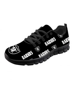 Oakland Raiders Custom 3D Running Shoes