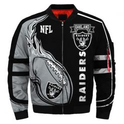 Oakland Raiders Fans Bomber Jacket Men Women