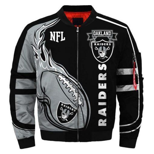 Oakland Raiders Fans Bomber Jacket Men Women