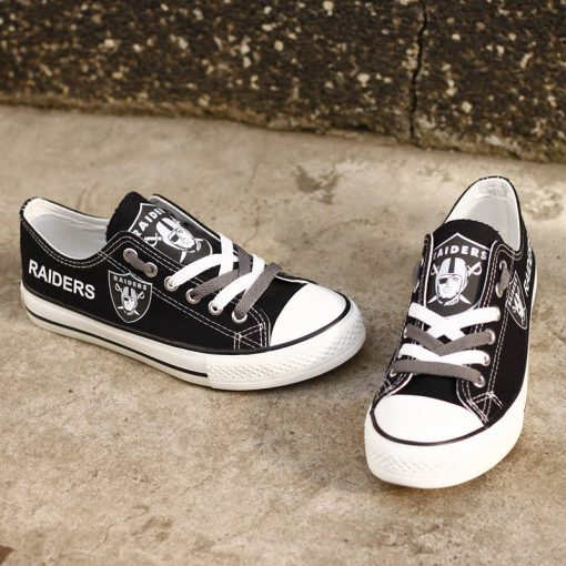 Oakland Raiders Limited Low Top Canvas Sneakers