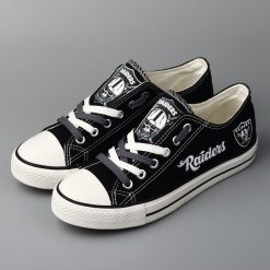 Oakland Raiders Limited Low Top Canvas Shoes Sport