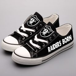 Raiders Limited Low Top Canvas Sneakers