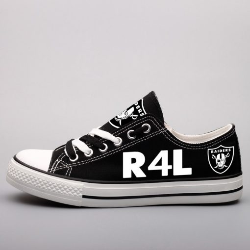 Oakland Raiders Fans Low Top Canvas Sneakers
