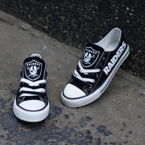 Raiders Fans Low Top Canvas Shoes Sport