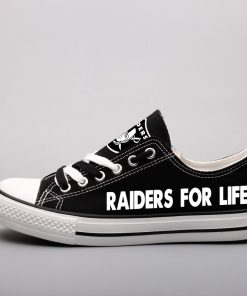Oakland Raiders Limited Fans Low Top Canvas Sneakers