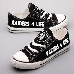 Oakland Raiders Limited Fans Low Top Canvas Shoes Sport