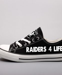 Oakland Raiders Limited Fans Low Top Canvas Shoes Sport
