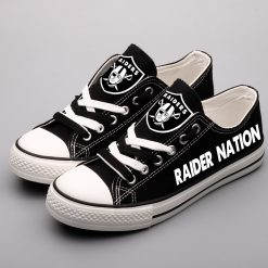 Oakland Raiders Low Top Canvas Shoes Sport