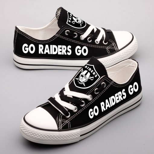 Oakland Raiders Low Top Canvas Sneakers