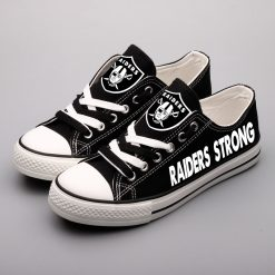 Oakland Raiders Fans Low Top Canvas Shoes Sport