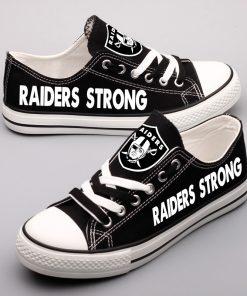 Oakland Raiders Fans Low Top Canvas Shoes Sport