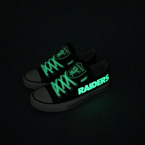Oakland Raiders Limited Luminous Low Top Canvas Sneakers