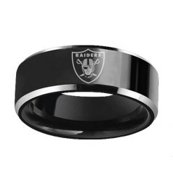 Oakland Raiders Tungsten Rings DIY