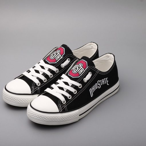 OhioStateBuckeyes Limited Low Top Canvas Sneakers