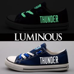 Oklahoma City Thunder Limited Luminous Low Top Canvas Sneakers