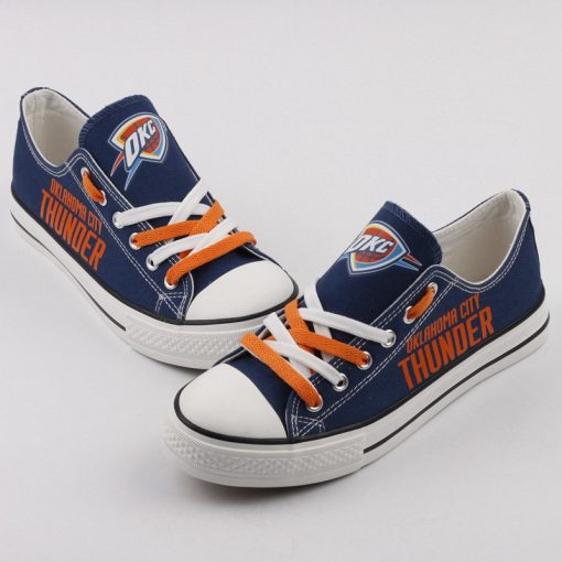 Oklahoma City Thunder Low Top Canvas Sneakers