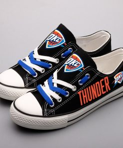 Oklahoma City Thunder Limited Fans Low Top Canvas Shoes Sport