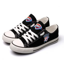 Oklahoma City Thunder Fans Low Top Canvas Shoes Sport