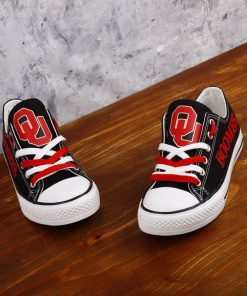 Oklahoma Sooners Limited Fans Low Top Canvas Shoes Sport