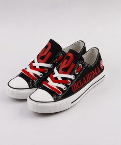 Oklahoma Sooners Limited Low Top Canvas Shoes Sport