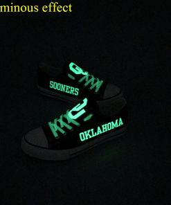 Oklahoma Sooners Limited Luminous Low Top Canvas Shoes Sport