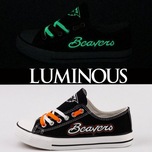 Oregon State Beavers Limited Luminous Low Top Canvas Sneakers