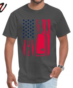 Patriotic Chef Knife Flag Tops Tees Prevalent Round Neck Funny Reich Sleeve Pure New Zealand Men 2