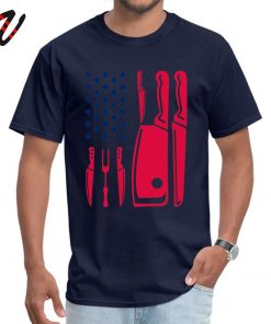 Patriotic Chef Knife Flag Tops Tees Prevalent Round Neck Funny Reich Sleeve Pure New Zealand Men 4