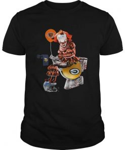 Pennywise Chicago Bears sitting toilet Green Bay Packers shirt unisex men women t shirt