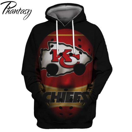 Phantasy 2020 Chiefs Rugby 3D Hoodie Cool Football Sweatshirt Kansas City Chief Hoodie Sweatshirt