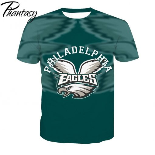 Phantasy 2020 Rugby Shirts Polyester Tops Summer Cool Funny T shirt Fashion Men Philadelphia Eagles