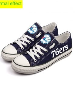 Philadelphia 76ers Limited Luminous Low Top Canvas Sneakers
