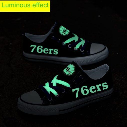 Philadelphia 76ers Limited Luminous Low Top Canvas Sneakers