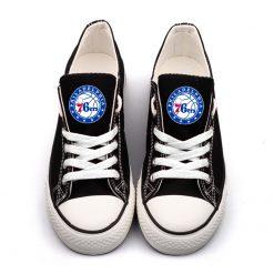 Philadelphia 76ers Low Top Canvas Sneakers