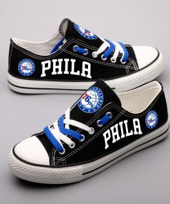 Philadelphia 76ers Low Top Canvas Sneakers