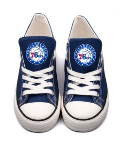Philadelphia 76ers Low Top Canvas Shoes Sport