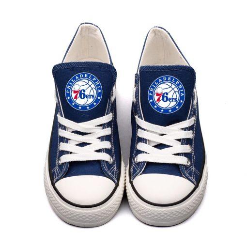 Philadelphia 76ers Low Top Canvas Shoes Sport