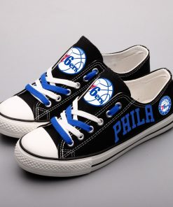 Philadelphia 76ers Limited Low Top Canvas Sneakers