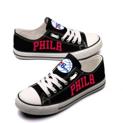 Philadelphia 76ers Fans Low Top Canvas Sneakers