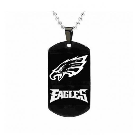 Philadelphia Eagles Engraving Tungsten Black Necklace