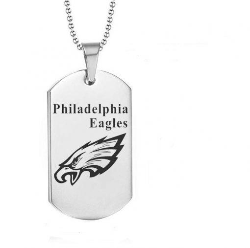 Philadelphia Eagles Engraving Tungsten White Necklace