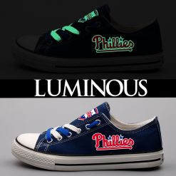 Philadelphia Phillies Limited Luminous Low Top Canvas Sneakers