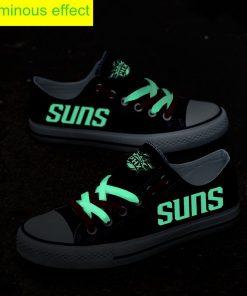 Phoenix Suns Limited Fans Luminous Low Top Canvas Sneakers