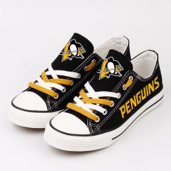 Pittsburgh Penguins Low Top Canvas Sneakers