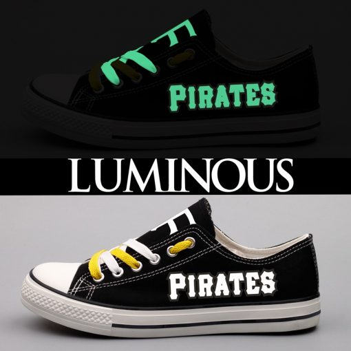 Pittsburgh Pirates Limited Luminous Low Top Canvas Sneakers