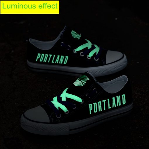 Portland Trail Blazers Limited Luminous Low Top Canvas Sneakers