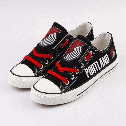 Portland Trail Blazers Low Top Canvas Sneakers