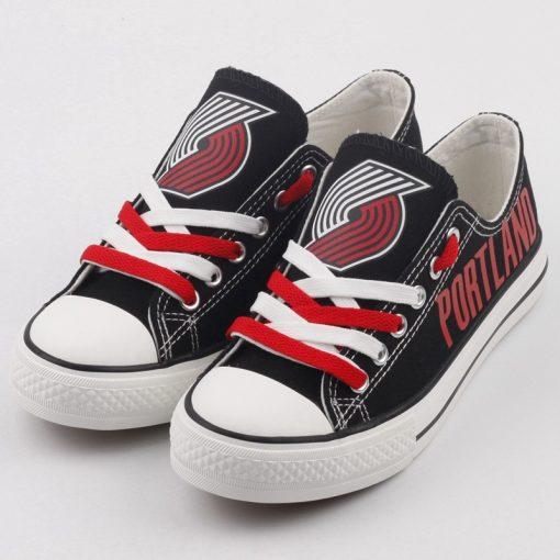 Portland Trail Blazers Low Top Canvas Shoes Sport