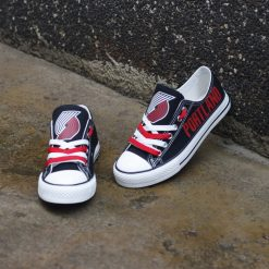 Portland Trail Blazers Low Top Canvas Shoes Sport